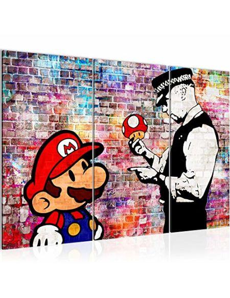 Image Mario and Cop 303031c Banksy Tableau Mural en intissé Format XXL 120 x 80 cm