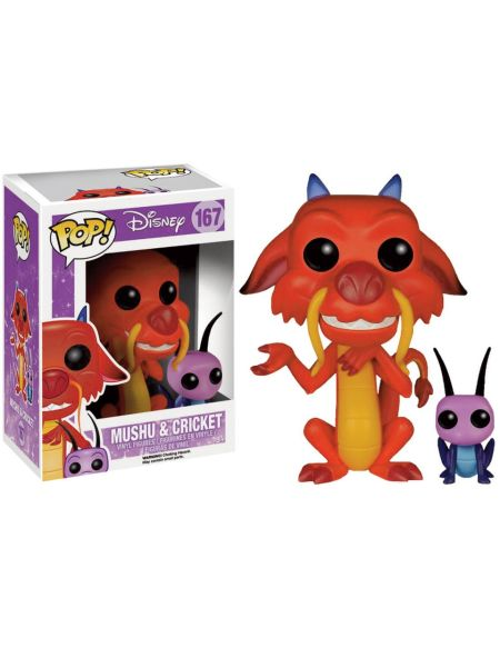 Figurines Pop! Mushu & Criquet Disney Mulan