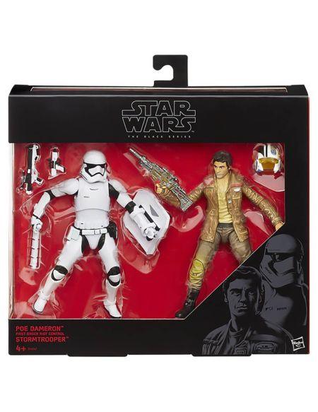 2 Figurines Stormtrooper et Poe Dameron Star Wars The Black Edition