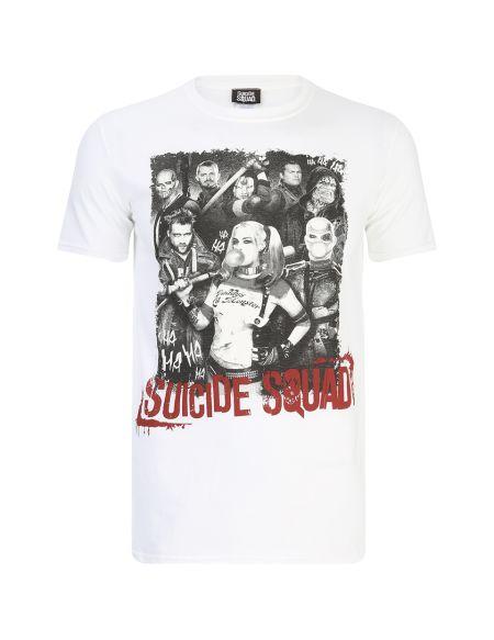 T-Shirt Homme DC Comics Suicide Squad Harley Quinn et Squad - Blanc - S - Blanc