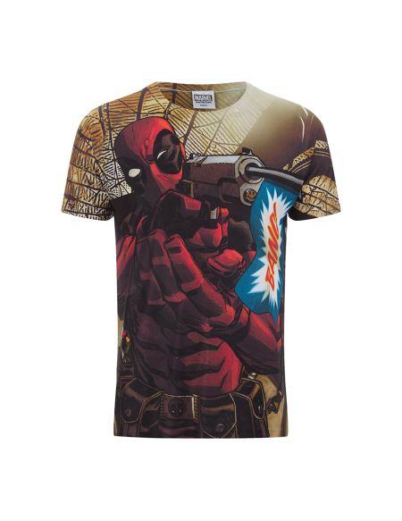 T-Shirt pour Homme -Marvel- Deadpool Bang - M - Blanc