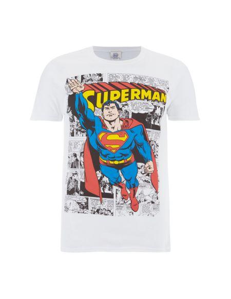 T-Shirt Homme DC Comics Superman Comic Strip - Blanc - S - Blanc