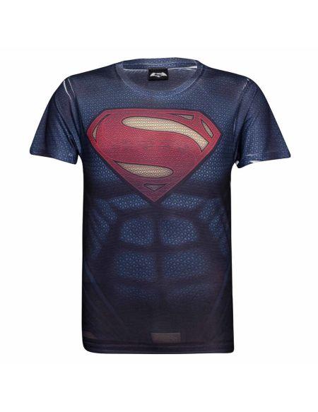 T-Shirt DC Comics Muscles Superman - S - Bleu
