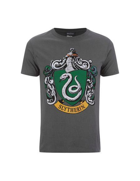 T-Shirt Homme Harry Potter Serpentard Bouclier - Gris - S - Gris