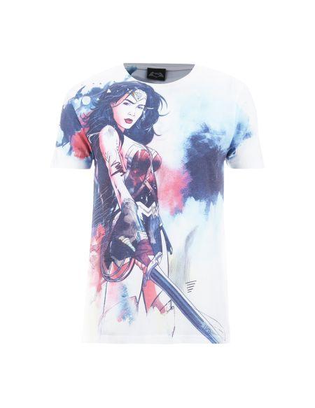 T-Shirt Homme DC Comics Wonder Woman Esquisse - Blanc - L - Blanc