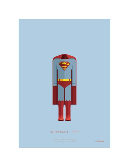 Affiche Costume Superman - 35,5 cm x 28 cm