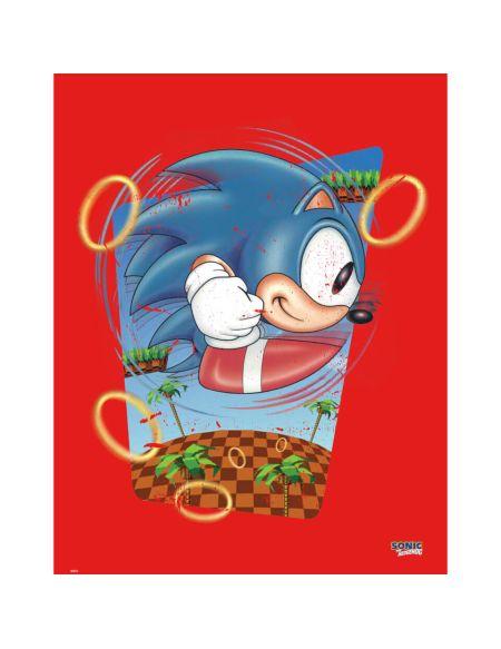 Affiche Sonic le Hérisson 'Rings' - Fine Art