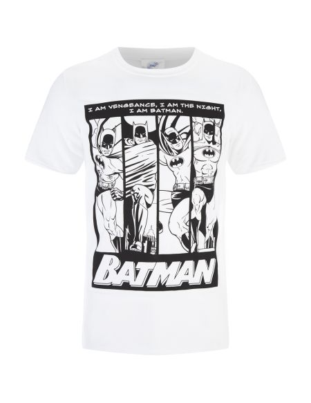 T-Shirt Homme DC Comics Batman I am Batman - Blanc - S - Blanc
