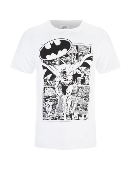 T-Shirt Homme DC Comics Batman Comic Strip - Blanc - S - Blanc