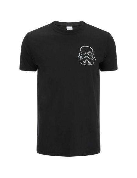T-Shirt Homme Stormtrooper Helmet Outline - Noir - S - Noir