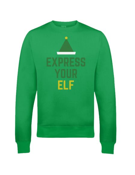 Pull de Noël Homme Express Your Elf - Vert - S - Vert Citron