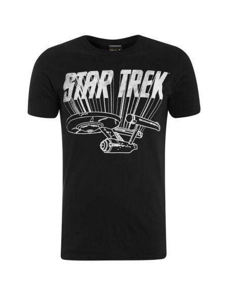 T-Shirt Homme Star Trek Enterprise Logo - Noir - S - Noir