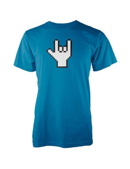 T-Shirt Homme Pixel Rock - Bleu - XXL - Bleu