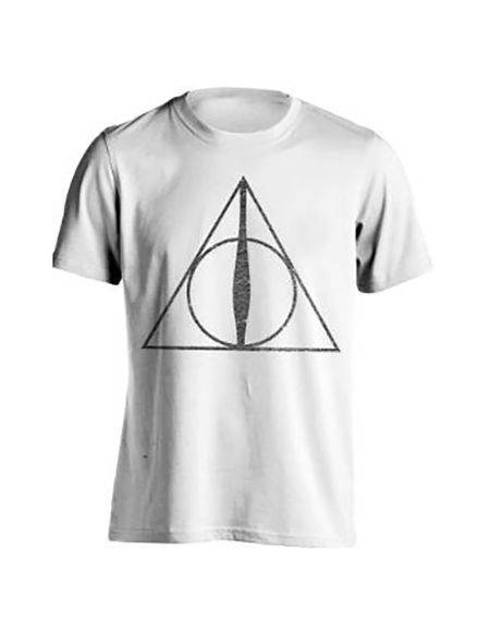 T-Shirt Homme Symboles Reliques de la Mort Harry Potter - Blanc - L - Blanc