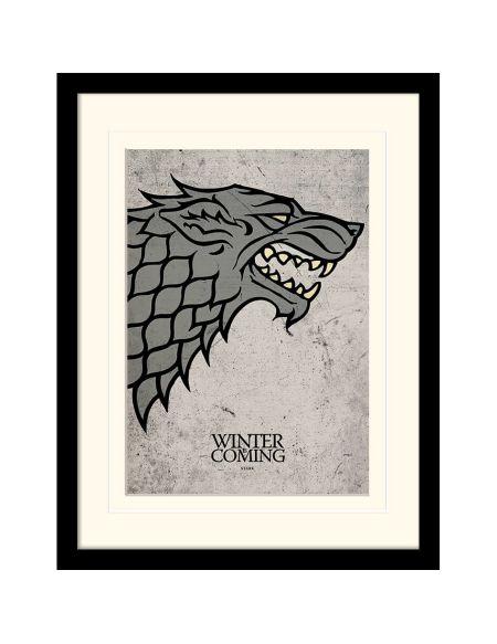 Affiche Encadrée Stark Game of Thrones - 30 x 40 cm