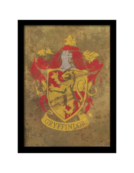 Affiche Encadrée Blason Gryffondor Harry Potter - 30 x 40 cm