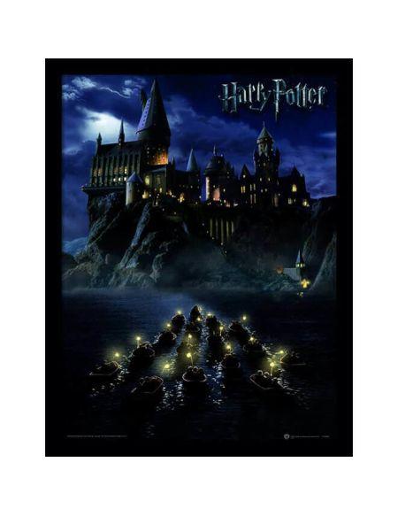 Affiche Encadrée Poudlard Harry Potter - 30 x 40 cm