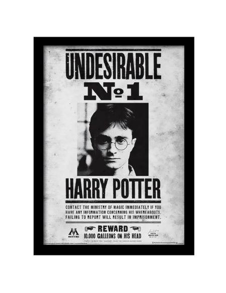 Affiche Encadrée Indésirable Numéro 1 Harry Potter - 30 x 40 cm