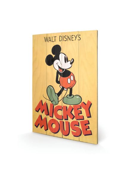 Affiche en Bois Mickey Mouse Disney 40 x 39 cm