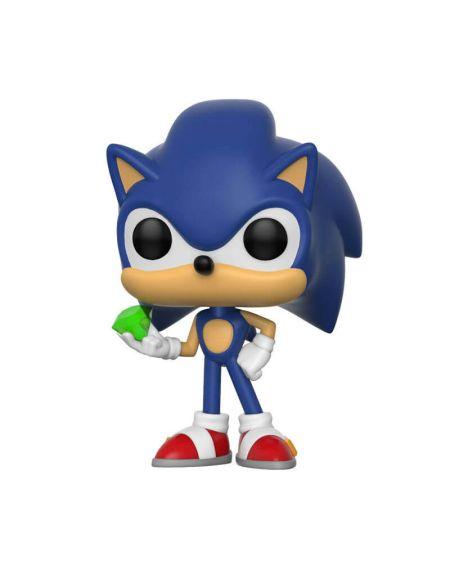 Figurine Pop! Sonic avec Émeraude - Sonic