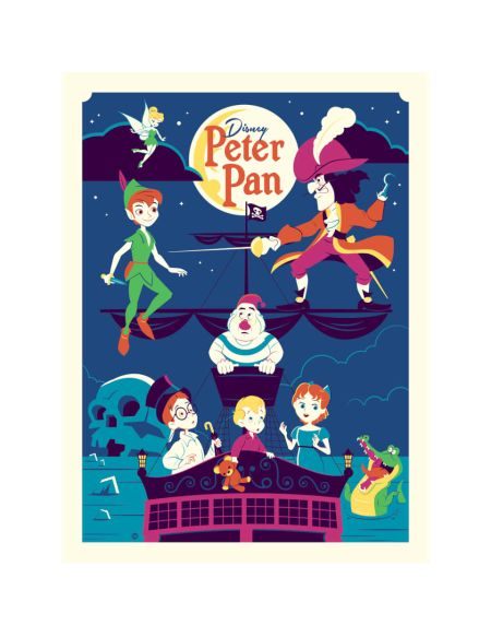 Affiche de Collection de Dave Perillo - Peter Pan Disney (46 cm x 61 cm)