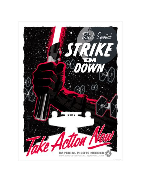 Affiche de Collection par Brian Miller - Star Wars - Take Action Now (457mm x 610mm)