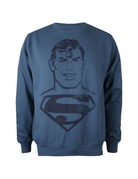 Sweat Homme Superman DC Comics - Bleu Airforce - M - Bleu