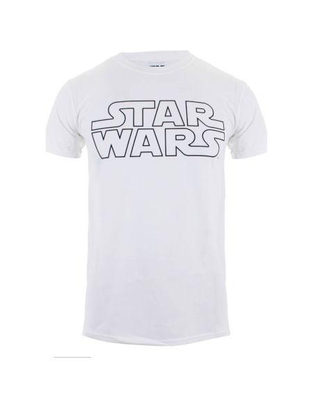 T-Shirt Homme Logo Basique Star Wars - Blanc - L - Blanc