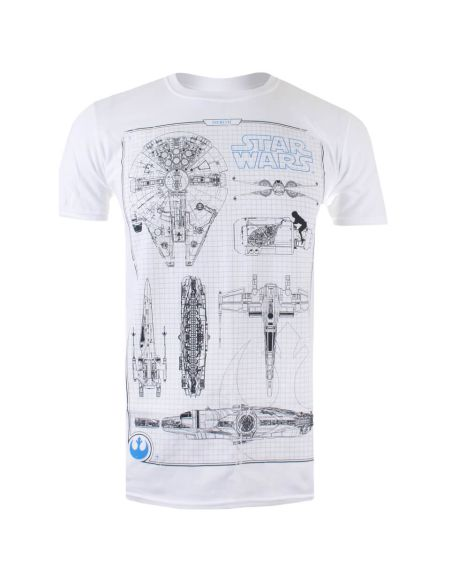 T-Shirt Homme Schémas Rebelles - Blanc - S - Blanc