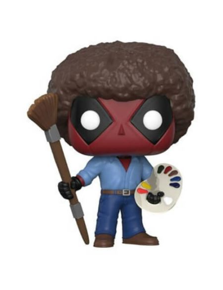 Figurine Pop! Deadpool Bob Ross Marvel - Deadpool 70's avec Afro