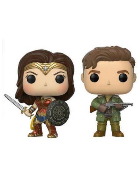 Lot de 2 Figurines Pop! Steve Trevor & Wonder Woman - Marvel