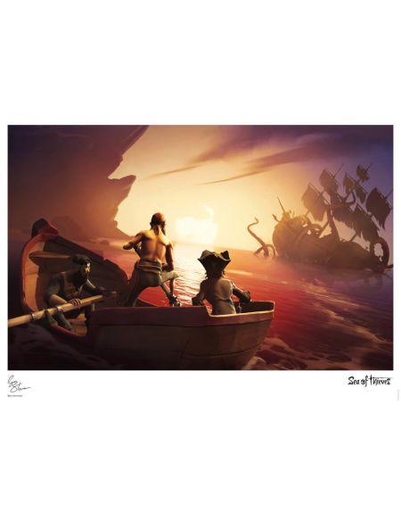 Affiche Sea Of Thieves - Rencontre avec le Kraken - Édition Limitée (42 cm x 30 cm)