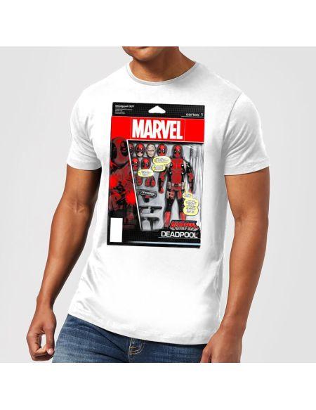 T-Shirt Homme Figurine Deadpool Marvel - Blanc - S - Blanc