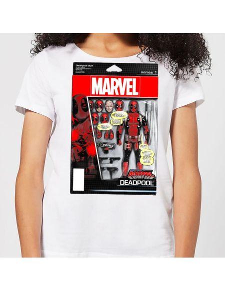 T-Shirt Femme Figurine Deadpool Marvel - Blanc - S - Blanc