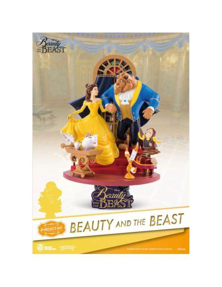 Statuette Diorama La Belle et la Bête D-Select PVC 15 cm