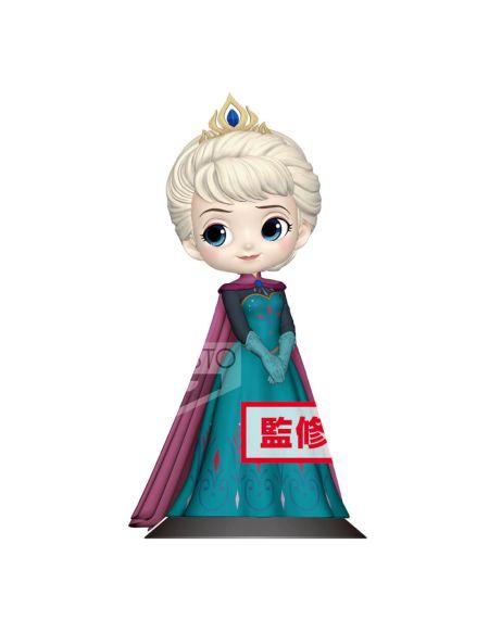 Figurine La Reine des neiges Elsa Reine 14 cm (Version Pastel ) Disney - Banpresto Q Posket