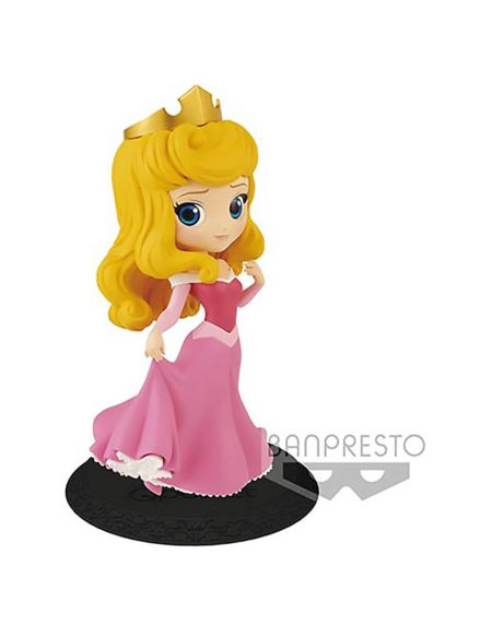 Disney – Figurine Banpresto Q Posket – La Belle au bois-dormant – Aurore – 14 cm (Pink dress)
