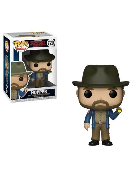 Figurine Pop! Hopper avec lampe - Stranger Things