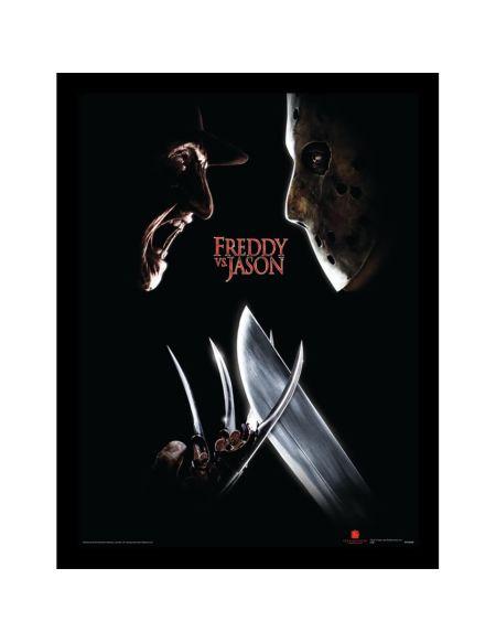 Freddy Vs Jason (Face Off) Framed 30 x 40cm Print