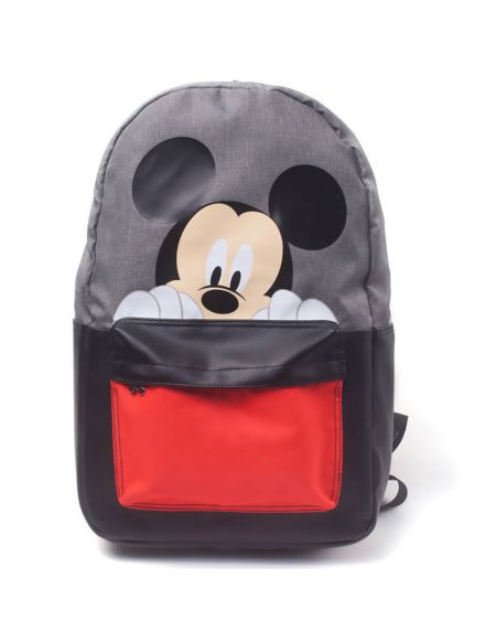 Disney Mickey Mouse Placement Printed Backpack - Black