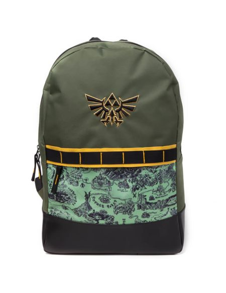 Nintendo The Legend of Zelda Allover Printed Backpack - Green