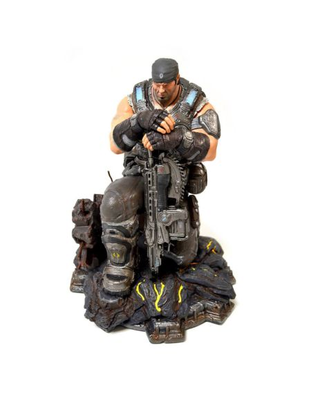 Gears of War 3 – Statuette de collection en PVC Marcus Fenix – Édition limitée 30 cm