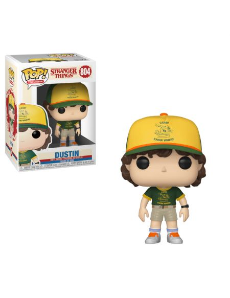 Figurine Pop! Dustin (Au Camp) - Stranger Things