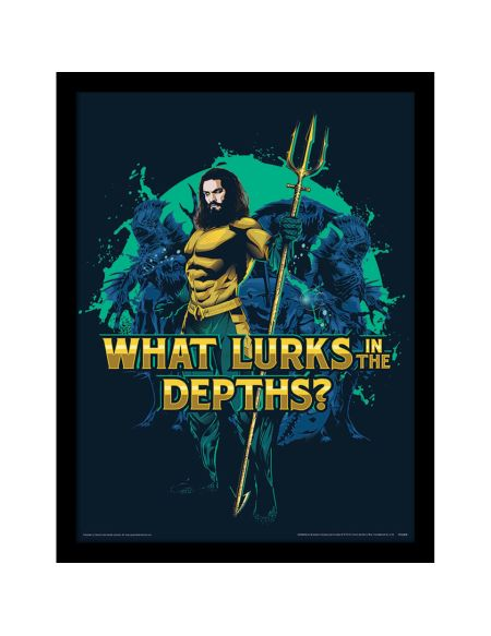 Aquaman (What Lurks in the Depths) Framed 30 x 40cm Print
