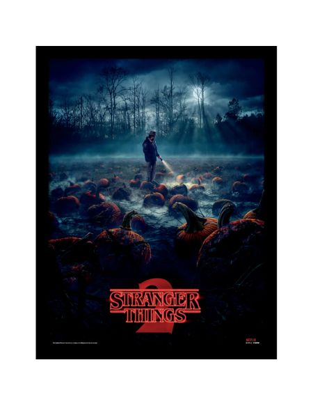 Stranger Things (Pumpkin Patch) Framed 30 x 40cm Print