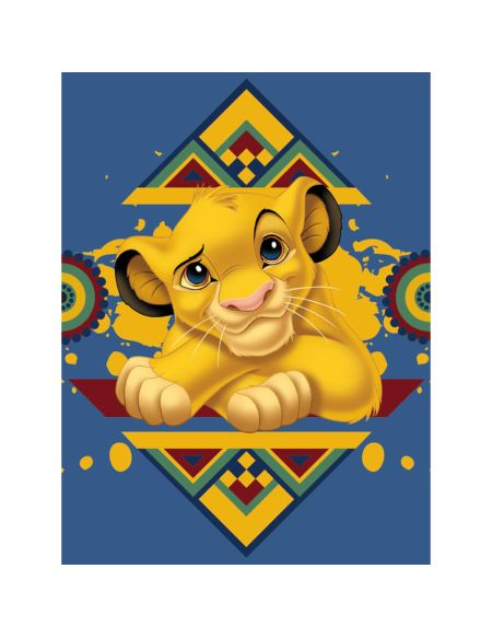 The Lion King (Simba Tribal Pattern) 60 x 80cm Canvas Print