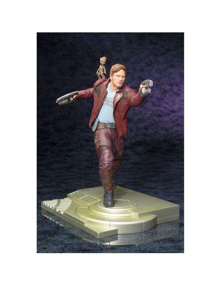 Kotobukiya Gardiens de la galaxie: Vol. 2 – Statuette ArtFX de Star-Lord et de Groot