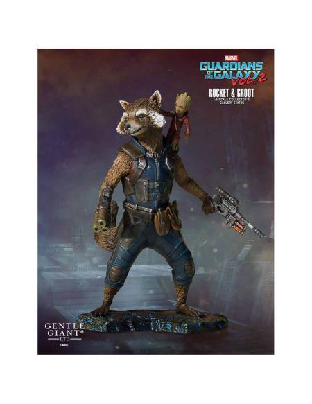 Gentle Giant Marvel Guardians of the Galaxy 2 Rocket & Groot Collectors Gallery 1/8 Statue - 11cm
