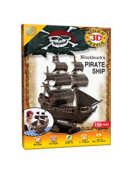 Build it 3D Pirate Ship Puzzle
