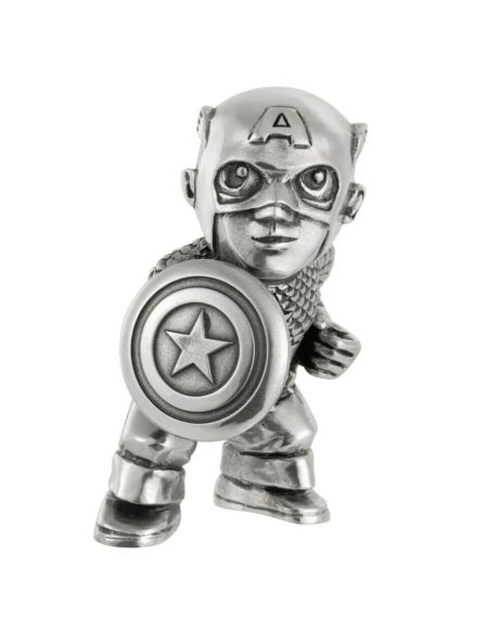 Royal Selangor Marvel Captain America Pewter Miniature Figurine 5cm